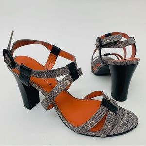 Via Spiga Leather Block Heels